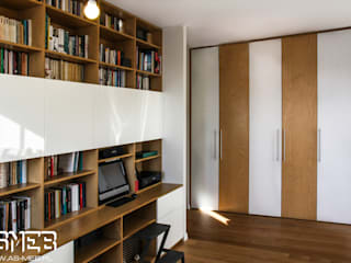 AS-MEB Study/office Chipboard Wood effect