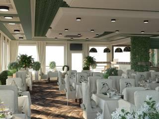 Рыбный ресторан Стены и пол в стиле лофт от DS Fresco Лофт