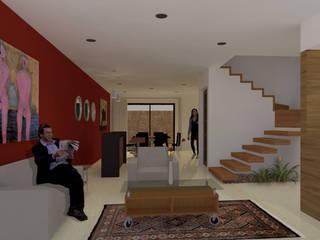 INTERIOR CASA CH: Salas de estilo minimalista por AD+d