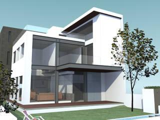 EXTERIOR JARDIN CASA MP: Casas de estilo minimalista por AD+d