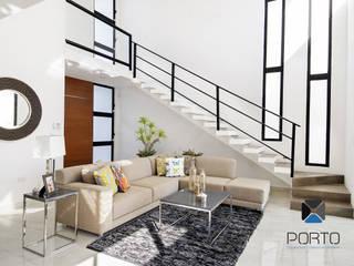 PORTO Arquitectura + Diseño de Interiores Salas de estilo moderno