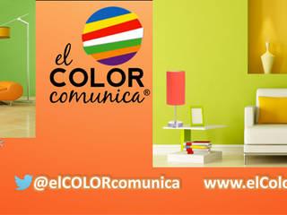 Colores en el espacio interior.:  de estilo  por Consultora Gallardo