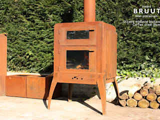 outdoor fireplace 'BRUUT' van PRODUCTLAB we create Industrieel