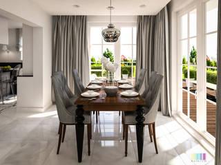 Dom z nutą glamour: styl , w kategorii Jadalnia zaprojektowany przez Kolorum Projektowanie Wnętrz