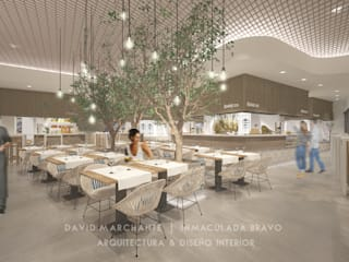 Mercado Gourmet en Marbella Bares y clubs de estilo mediterráneo de David Marchante | Inmaculada Bravo Mediterráneo