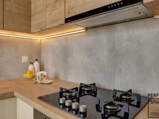 Mieszkanie dla singla Nowoczesna kuchnia od Perfect Space Nowoczesny