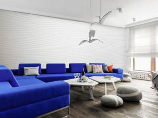 Apartamenty Sea Towers, Gdynia: styl , w kategorii Salon zaprojektowany przez meinDESIGN