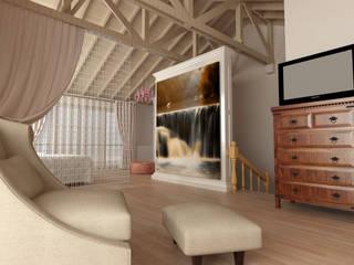 Kalya Interıor Desıgn – Antalya'da bir Konut Projesi:  tarz Yatak Odası