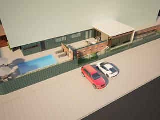 Projeto de Arquitetura e Interiores para áreas sociais de um Edifício Multifamiliar: Piscinas  por Tárcyla & Savane Arquitetas Associadas