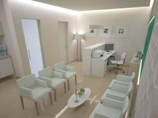 Projeto para um Consultório de Dermatologia: Escritórios  por Tárcyla & Savane Arquitetas Associadas