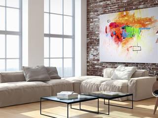 """Obraz abstrakcyjny """"Zagubione kolory"""": styl , w kategorii  zaprojektowany przez BIMAGO.PL"""