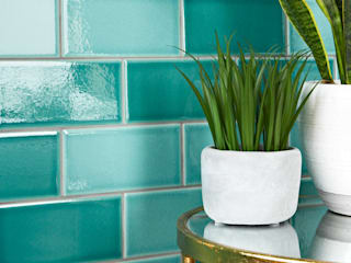 Antique Crackle Metro Tiles Walls and Floors Ltd Walls & flooringTiles Turquoise