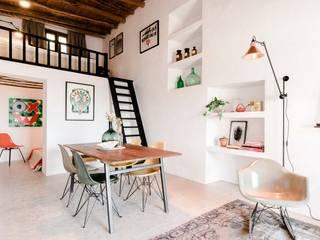 Ibiza Interiors - Nederlandse Architect Ibiza Soggiorno in stile mediterraneo