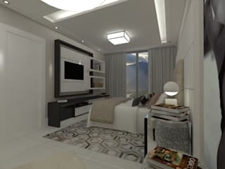 Marcos Soares Arquitetura Camera da letto moderna