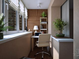 Balcones y terrazas de estilo minimalista de Юлия Паршихина Minimalista