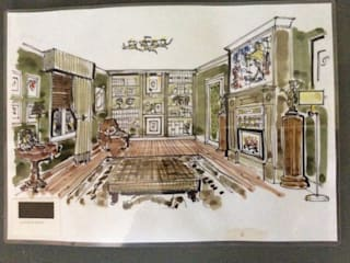 Initial drawing: classic Study/office by Elephant Interior Exterior Design