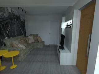 Salas modernas de Elaine Medeiros Borges design de interiores Moderno