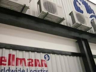 Hellman World Wide Logistics, Querétaro Edificios de oficinas de estilo industrial de KALI diseño.MX Industrial