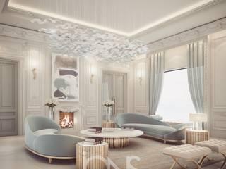 Гостиная в . Автор – IONS DESIGN, Модерн