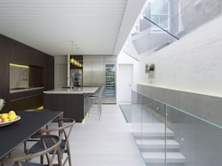 LIGHTWELL HOUSE: modern Kitchen by Emergent Design Studios