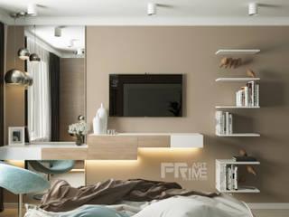 Квартира-студия в современном стиле Спальня в стиле модерн от 'PRimeART' Модерн