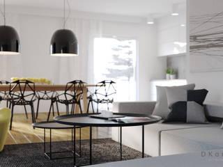 Dom pod Warszawą: styl , w kategorii Salon zaprojektowany przez DKoncept architektura wnętrz