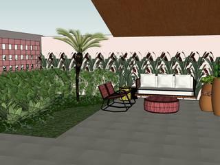 Jardim frontal: Jardins  por Danielle Fabrão Arquitetura e Urbanismo