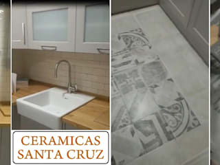 Reforma de cocina Cerámicas Santa Cruz Cocinas de estilo moderno Azulejos