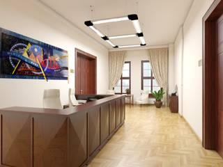 Projekt lady recepcyjnej dla Urzędu Miasta w Głogowie: styl , w kategorii  zaprojektowany przez Kreska. Studio projektowania wnętrz