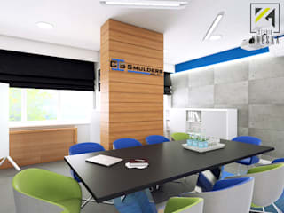 Sala konferencyjna w biurowcu: styl , w kategorii  zaprojektowany przez Kreska. Studio projektowania wnętrz