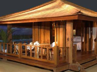 bungalow de madera 100 % reciclada de comprar en bali Ecléctico