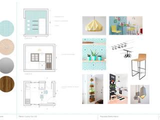 Propuesta Cocina/Comedor: Cocinas de estilo minimalista por Casa Meva Estudio