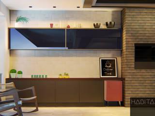 Varanda Gourmet: Terraços  por Habitá Arquitetura