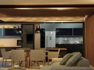 Salas de estilo moderno de Habitá Arquitetura Moderno