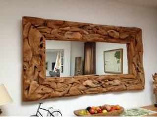 espejo de raíz por comprar en bali Rústico