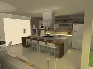 Cozinha Cozinhas modernas por ELEVATO ARQUITETURA E SERVIÇOS Moderno