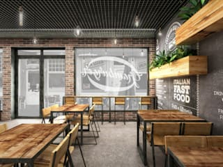 Industrial style gastronomy by Architetto Luigia Pace Industrial