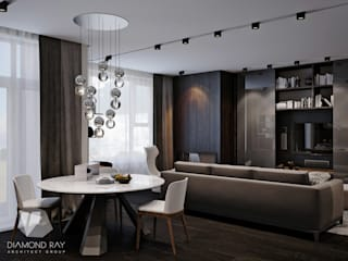 Living room by Архитектурная группа 'ДАЙМОНД' , Modern