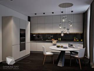Дизайн интерьера квартиры.: Кухни в . Автор – Архитектурная группа 'ДАЙМОНД' , Модерн