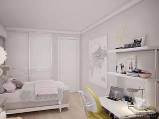 Дизайн-проект квартиры: Детские комнаты в . Автор – Архитектурная группа 'ДАЙМОНД' , Минимализм