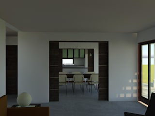 Living room by ARQvision BIM Sustainable Architecture