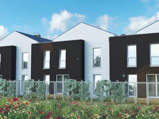 Budynki jednorodzinne dwulokalowe w zabudowie szeregowej -Tychy. od wytwornia tychy