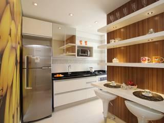 Pricila Dalzochio Arquitetura e Interiores Cocinas modernas Blanco