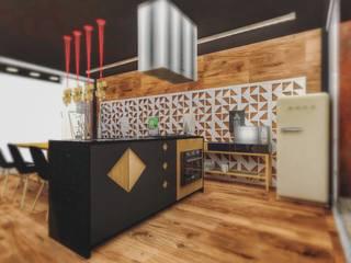 Casa N: Cozinhas  por Otaviano Douglas