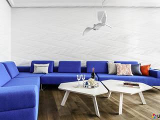 ARANŻACJA WNĘTRZ Z ZASTOSOWANIEM PANELI ŚCIENNYCH 3D MDF Nowoczesne ściany i podłogi od Luxum Nowoczesny