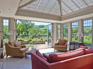 Conservatory with Bronze Casement Windows on a Period Farmhouse Konservatori Klasik Oleh Vale Garden Houses Klasik