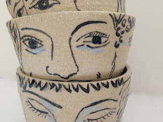 Welcome face cup:   by Ceramic Language. Adriana Sambrano