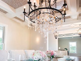 Random Chip Freshwater Mosaic Ceiling Modern dining room by ShellShock Designs Modern