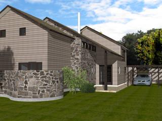 Casa N3-MP en conjunto Casas de la Marina Puyehue: Casas de estilo  por ARQvision BIM Sustainable Architecture