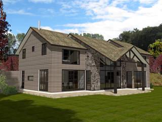Casa N3-MP en conjunto Casas de la Marina Puyehue Casas de estilo colonial de ARQvision BIM Sustainable Architecture Colonial
